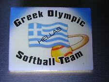 Greco OLYMPIC SOFTBALL TEAM PIN -- Olimpiadi di Atene 2004