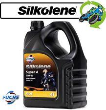 1x New Silkolene Super 4 Semi Synthetic 20W-50 High Performance Bike Oil 4L