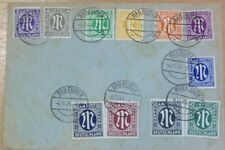 GERMANY (AMERICAN AND BRITISH ZONE) 1945 COVER WITH CERTIFICATE .STAMPS CAT £480