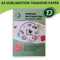 100 Sheets Quality A3 Dye Sublimation Paper Desktop Inkjet Printer Heat Transfer