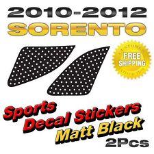 Quarter Glass Sports Mask Matt Black Decal Stickers For KIA 2010-2012 Sorento R