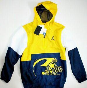 Michigan Wolverines • Air Jordan Nike Pullover Windbreaker Hooded Jacket Size S