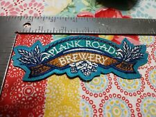 """P Miller Plank Road Brewery PATCH Brand New 5 1/4"""" x 2"""" jacket hat shirt"""