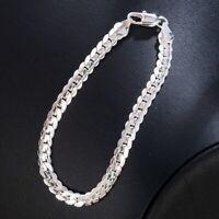 5MM 925 Silver Bracelet Fashion Women Snake Chain Bangle Jewelry Gift HOT