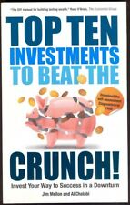 TOP TEN INVESTMENTS  TO BEAT THE CRUNCH, 232-Page Softback Book. Free UK Post