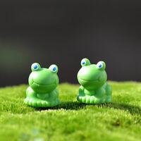 2Pcs Miniature Mini Frog Christmas Resin Fairy Home Garden Craft Decoration bc