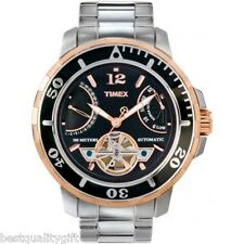 TIMEX SILVER S/STEEL,ROSE GOLD AUTOMATIC DAY/DATE,TACHYMETER WATCH-T2M930-MR$205