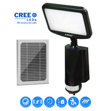 New listing 4-Watt 180-Degree Black Motion Activated Outdoor Solar Powered Cree Led Smart Se