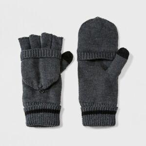 Men's Fleece lined Convertible Gloves - Goodfellow & Co One Size Gray
