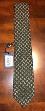 Polo Ralph Lauren Tie Olive Green White Red Paisley Made in Italy Wool MSRP $125