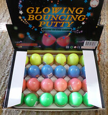 PACK OF 4: GLOW-IN-DARK BOUNCING PUTTY. STRETCH IT, BOUNCE IT & IT STILL GLOWS