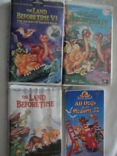 4 VHS Lot CHILDREN'S, THE LAND BEFORE TIME 1, 4 & 6 AND ALL DOGS GO TO HEAVEN 2