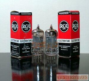 Matched Pair (2) RCA 12ax7/ECC83 LONG plates tubes - Test NOS