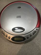 Durabrand Cd-566 Red Portable Cd Player Works Great - Free Shi