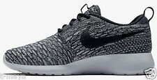 NIKE ROSHE ONE FLYKNIT CASUAL WOMEN's M RUNNING COOL GREY - BLACK AUTHENTIC NEW