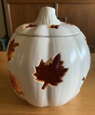 Partylite Autumn White Pumpkin Glow Tealight Tea Light Candle Holder With Box