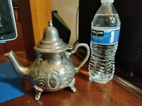 "Vintage TeaPot Tea coffee pot Silver antique 6.5""  -- 50 years old"