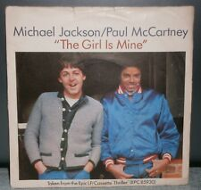 MICHAEL JACKSON / PAUL MCCARTNEY THE GIRL IS MINE / CANT GET OUTTA THE RAIN 1987