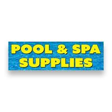 POOL & SPA SUPPLIES Vinyl Banner (Size Options)