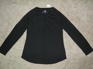 JUSTICE Black Long-Sleeve Top Size 14/16~ NEW!