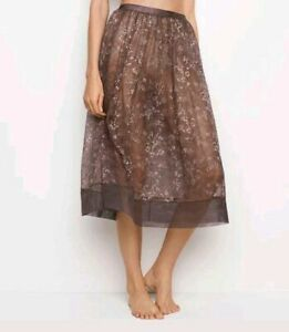 NEW $68 VICTORIA'S SECRET VERY SEXY COLLECTION Violet Lace Sleep Skirt Slip Gown