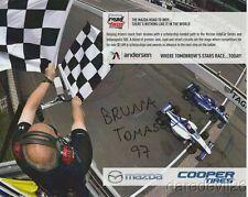 2017 Bruna Tomaselli signed Mazda Road To Indy postcard