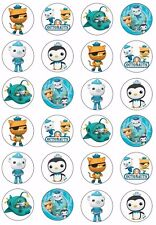 OCTONAUTS Wafer / Rice Paper Cupcake Toppers EDIBLE KIDS CAKE DECORATIONS