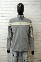 Felpa Uomo ASICS Taglia L Maglione Grigio Pullover Man Cardigan Zip Sweatshirt