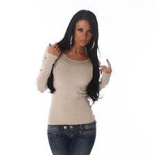Jersey de mujer de color principal beige talla 38