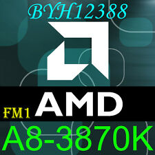 AMD A8-Series A8-3870K AD3870WNZ43GX 3GHz 100w Socket FM1 CPU Prozessor