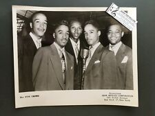 Original 1950s-60s 8 x 10 Publicity Photo Vocal Group Doo Wop R&R Five Crowns