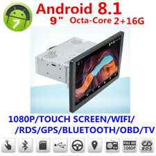"1 Din android 8.1 9""1080P écran Tactile Octa-Core 2 Go RAM 16 Go ROM GPS WIFI 3 G 4 G"