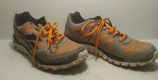 Reebok Gray Black Accent Orange Running Shoe Transition 2.0 X-Trainer Real Flex
