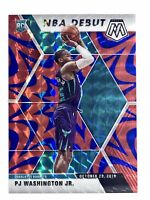 2019-20 Panini Prizm Mosaic Pj Washington Jr. Rookie Card RC Blue Reactive 🔥📈