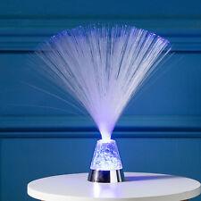 Farbwechselnde LED Glasfaserlampe 33cm Timer Nachtlicht Batterie Lights4fun