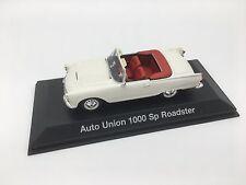 1:43 Auto Union 1000 Sp Roadster Diecast Model Car Audi GmbH Minichamps White
