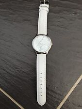 NEXT LADIES WHITE GENUINE LEATHER STAINLESS STEEL WRIST WATCH BRAND NEW
