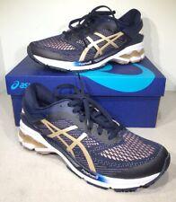 Asics Gel-Kayano 26 Women's Size 10 Navy/Gold Athletic Running Shoes X4-874