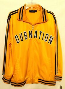 Golden State Warriors Renegade Dub Nation Nike New Gold Blue Track Era Jacket