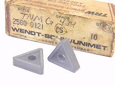 New Surplus 3Pcs. Trw Tnmg 434 Grade: C5 Carbide Inserts