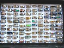 Wholesale 100pcs BULK LOT mixed STAINLESS STEEL RINGS MEN'S Fashion Wedding Ring