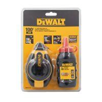 DEWALT DWHT47374L CHALK LINE SET 3 X FAST REWIND 30m 113g red chalk