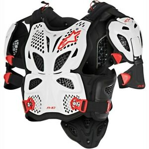 Alpinestars A10 ACU CE Approved EN1621 Full Body Motocross Armour White Adults