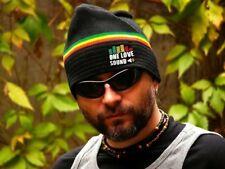 Unique shape warm rasta reggae beanie hat autumn winter spring ONE LOVE SOUND!