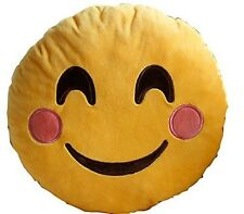"""USA SELLER Emoji Pillow 12""""Inch Large Yellow Smiley 30cm Emoticon (Happy Face)"""
