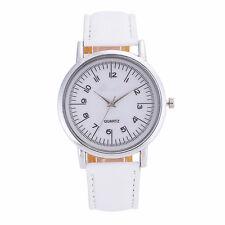 Fashion Brand Geneva Women Watches Leather Band Analog Quartz Wrist Watch White