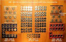 1999 - 2009 Complete 164 State & Territory Quarter P & D BU & Satin Set