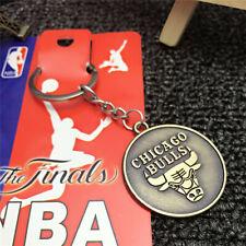 BASKETBALL NBA Chicago Bulls Logo Retro Souvenir Copper steel Keychain KeyRing