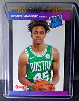 Romeo Langford 2019-2020 Panini NBA Instant Rated Rookie Retro Card