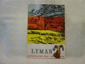 LYMAN Sights Scopes Mounts Reloading Tools Ammunition  catalog